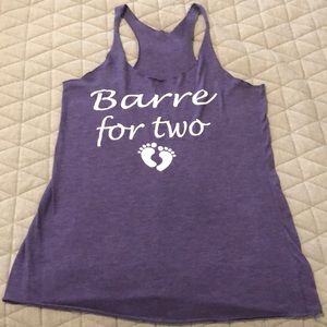 Barre for Two maternity workout tank top